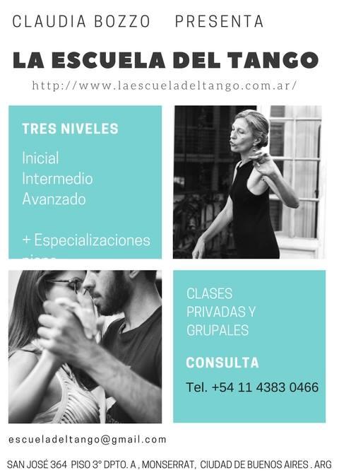 Cursos Tango en La Escuela del Tango